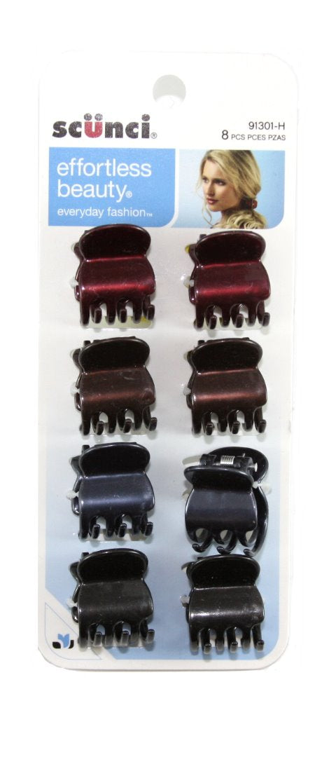 Scunci Effortless Beauty Jaw Clips - 8 Clips
