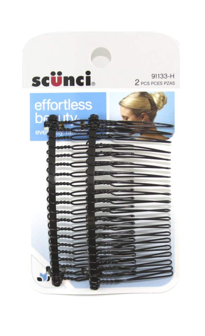 Scunci Effortless Beauty Side Hair Combs - 2 Combs