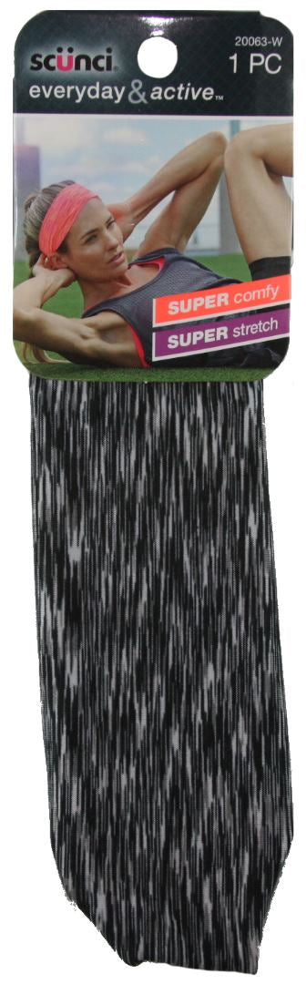 Scunci Everyday & Active Headwrap Black - 1 Pack