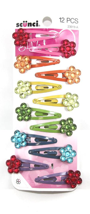 Scunci Girl Flower Clips Assorted