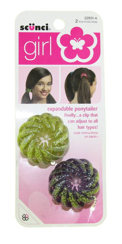 Scunci Girl Ponytailers Expandable Assorted
