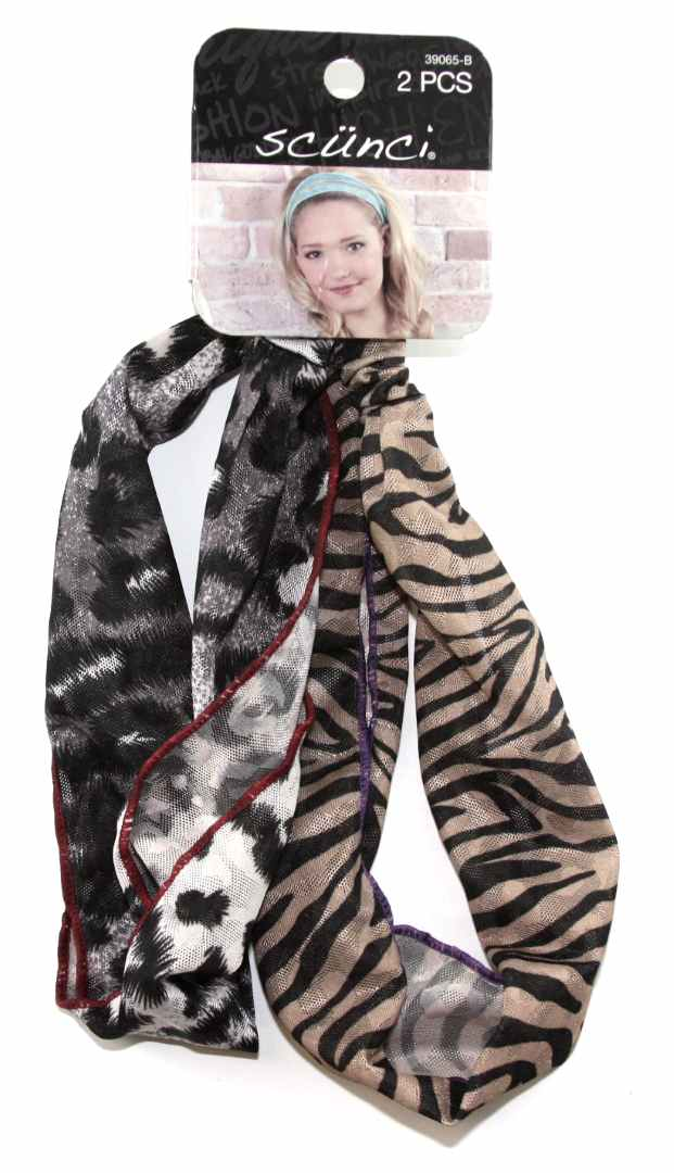 Scunci Headwrap Animal Print - 2 Pieces