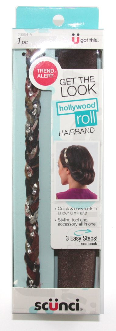 Scunci Hollywood Roll Skinny Red - 1 Pack