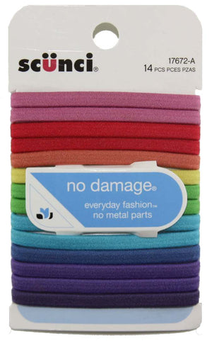 Scunci No Damage Flat Elastics Assorted