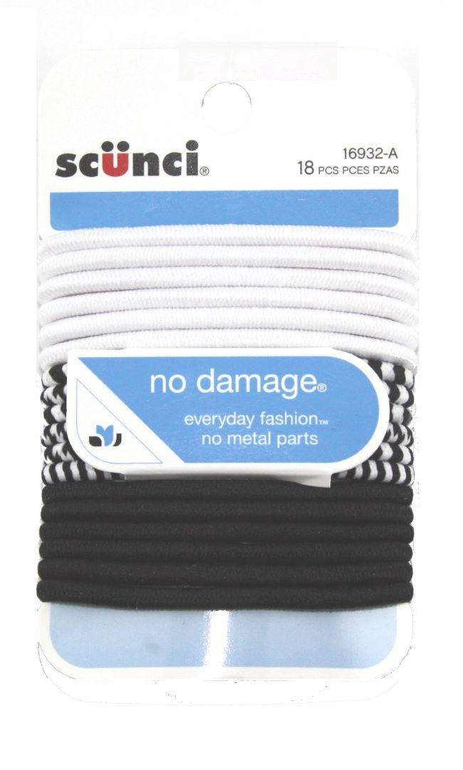 Scunci No Damage Ponytailers for all Hair Assorted - 18 Pack