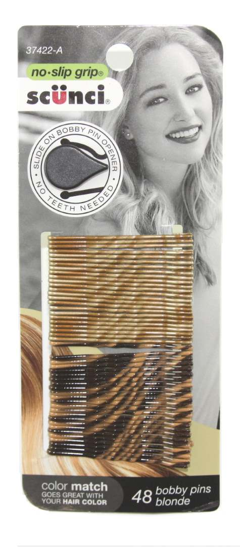 Scunci No Slip Grip Beautiful Blends Blonde Bobby Pins - 48 Pack