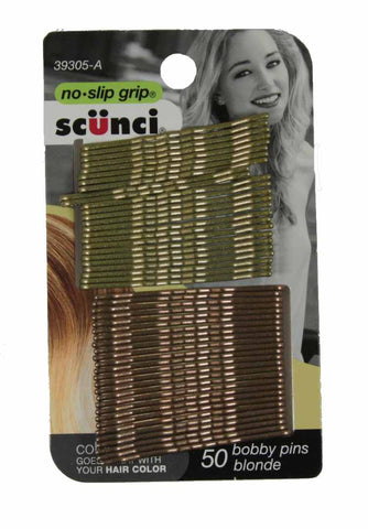 Scunci No Slip Grip Bobby Pins Blonde