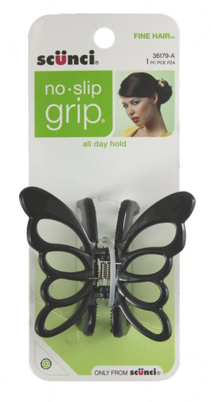 Scunci No Slip Grip Butterfly Jaw Clip