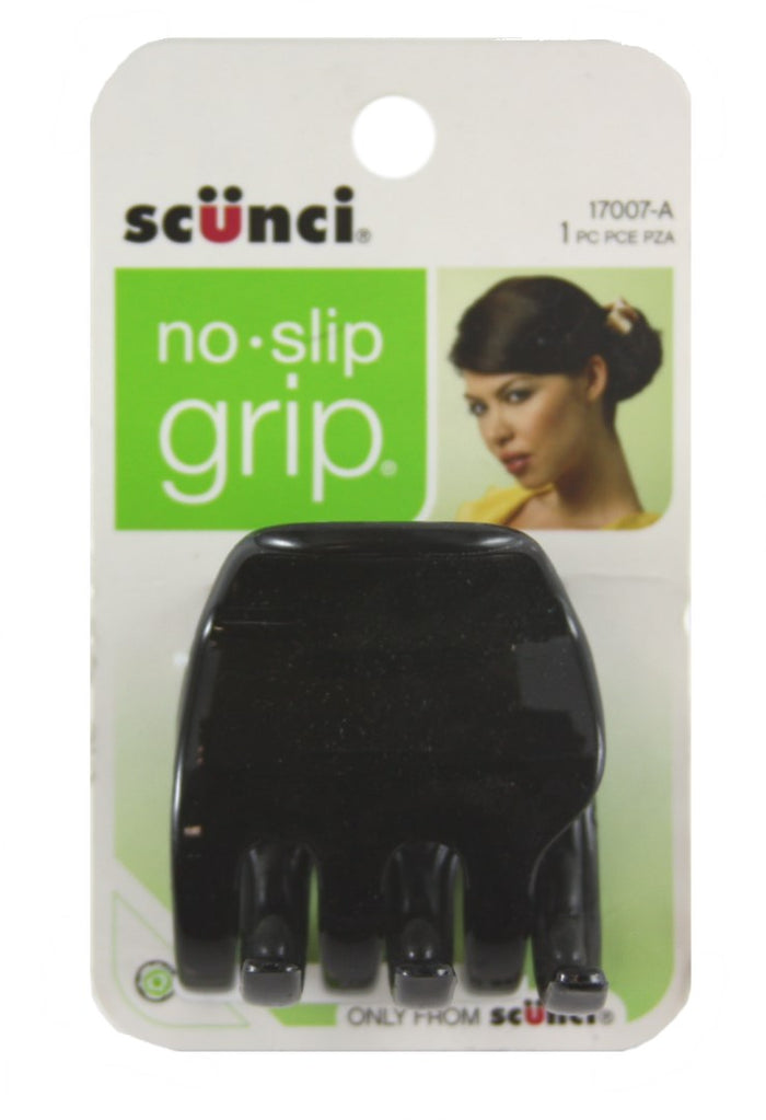 Scunci No Slip Grip Chunky Jaw Clips Large Black - 1 Pack