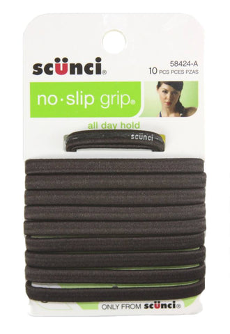 Scunci No Slip Grip Elastic Flat Brown 6 mm