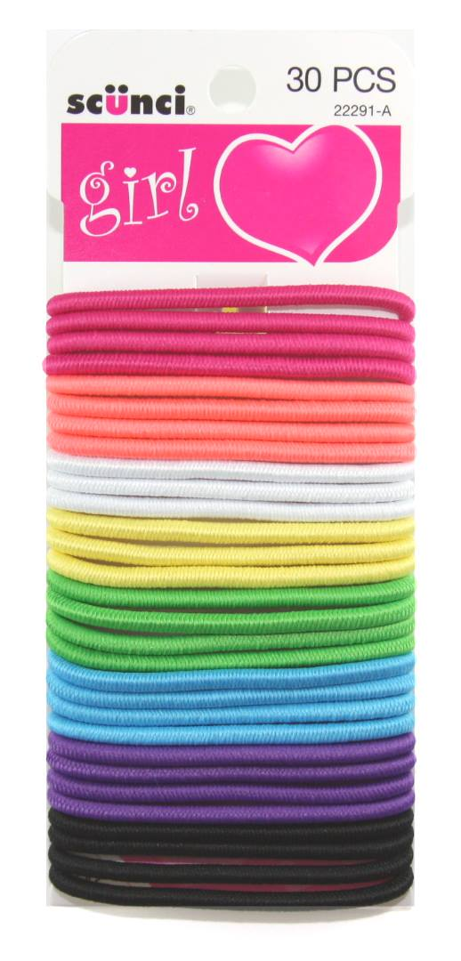 Scunci Ponytail Holders - 30 Pack