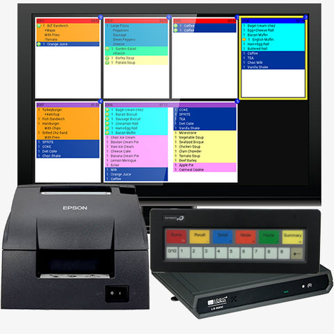 "Bematech Kitchen Display Controller with Bump Bar, 22"" Monitor & Kitchen Printer"