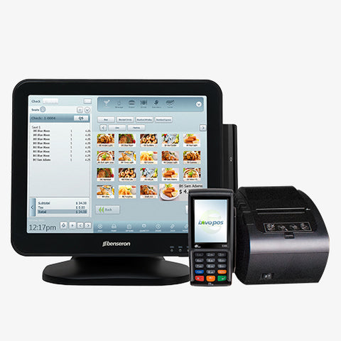 Windows POS Terminal with EMV Reader & Receipt Printer