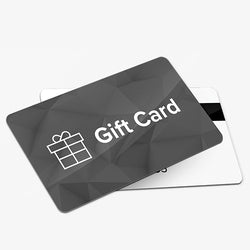 Single Store - Custom Black & White Gift Cards