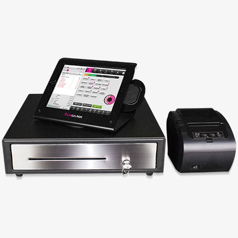 9.7-inch iPad with Enclosure, Card Reader, Receipt Printer & Cash Drawer