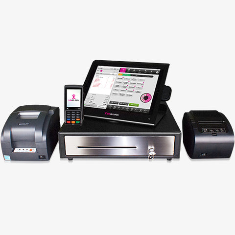 12.9-inch iPad with Enclosure, Card Reader, EMV Reader, Receipt Printer, Cash Drawer & Remote Printer