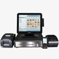 Windows POS Terminal with EMV Reader, Receipt Printer, Cash Drawer & Remote Printer