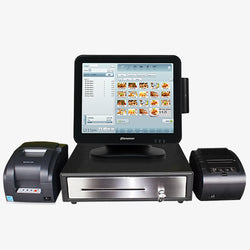 Windows POS Terminal with Card Reader, Receipt Printer, Cash Drawer & Remote Printer
