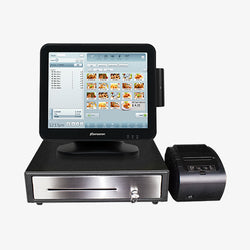 Windows POS Terminal with Card Reader, Receipt Printer & Cash Drawer