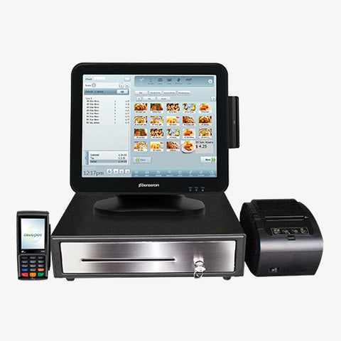 Windows POS Terminal with EMV Reader, Receipt Printer & Cash Drawer