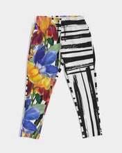 Black and White Floral Unisex Joggers