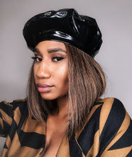Noire Beret (Faux Patent Leather)