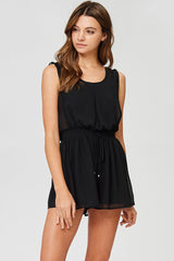 Scoop Back Solid Romper