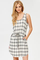 Plaid Mini Dress With Pockets