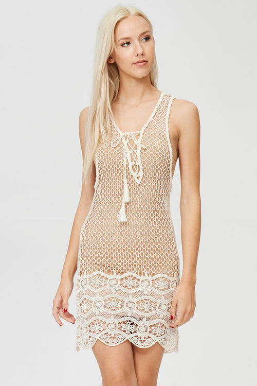 Fish Net See Through Mini Dress