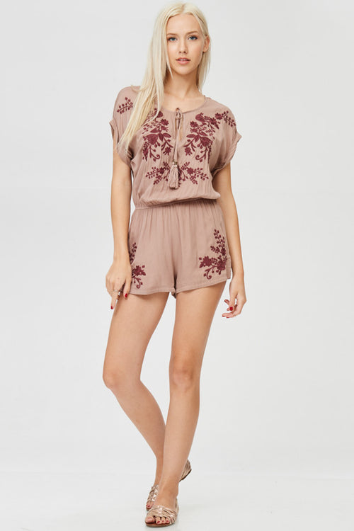 Embroidery Detailed Romper