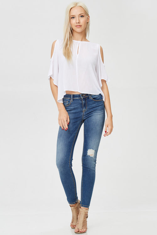 Cold Shoulder Solid Top