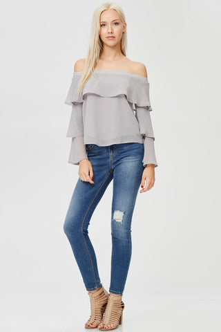 Off Shoulder Solid Top