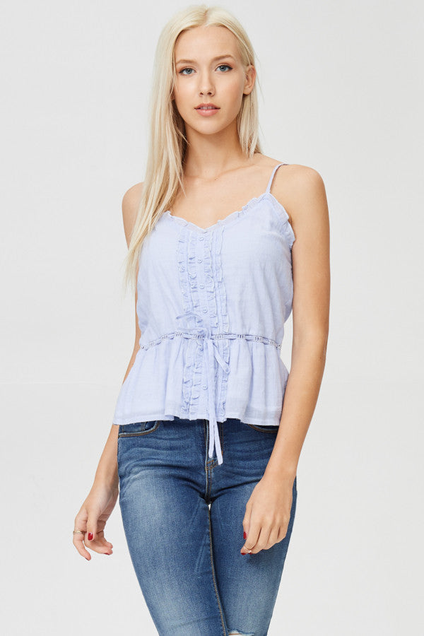 Laced Solid Tank Top