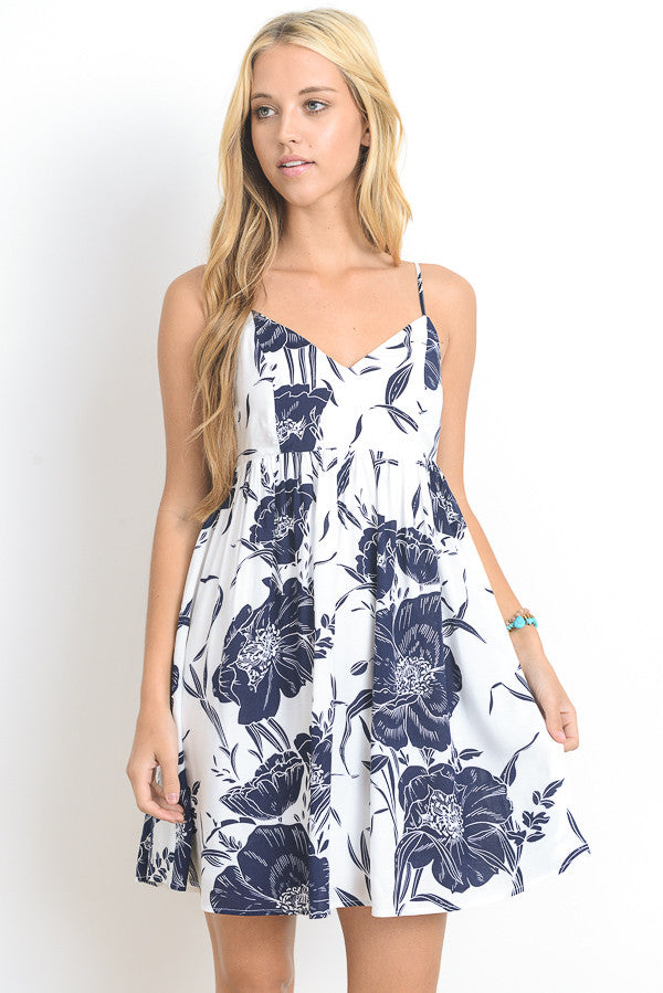 Floral Printed Mini Cami Dress