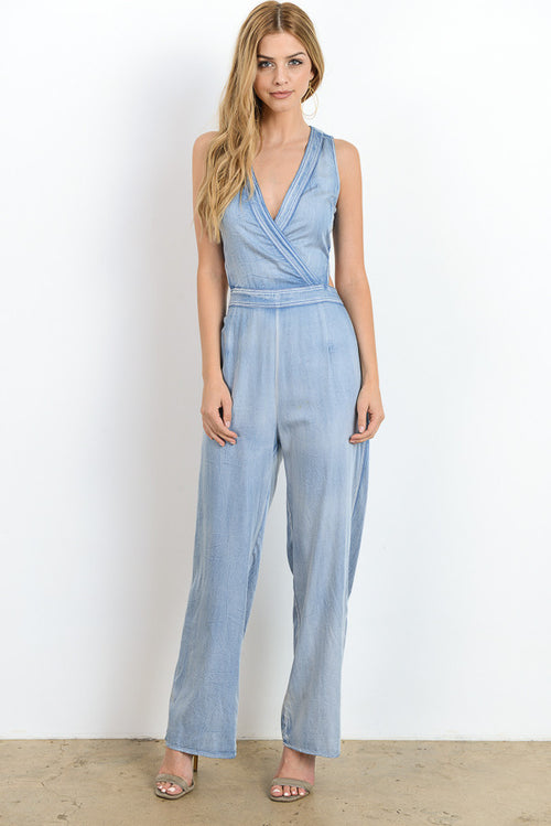 Cut Out Back Jumpsuit