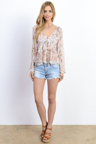 Cold Shoulder Lace top