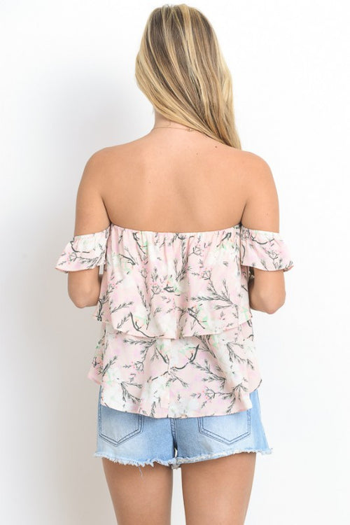 Off Shoulder Ruffled Tube Top