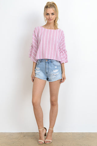 Bell Sleeved Cropped Top
