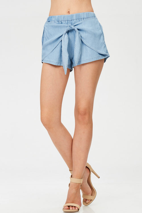 Knotted Solid Shorts