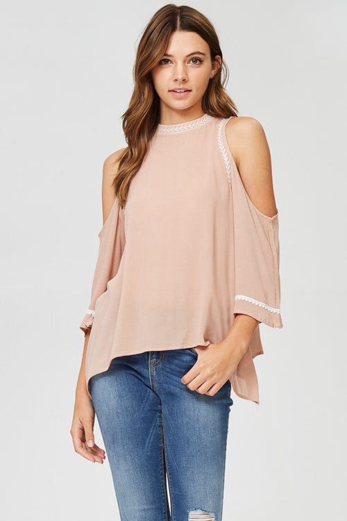 Cold Shoulder Halter Top