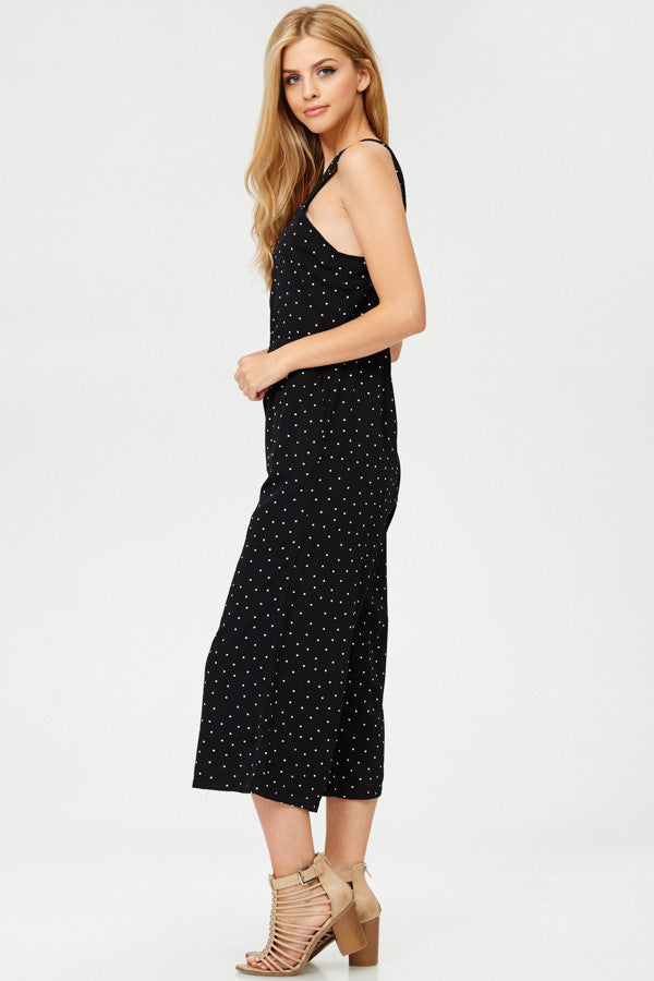 Polka Dot Overall With Pockets