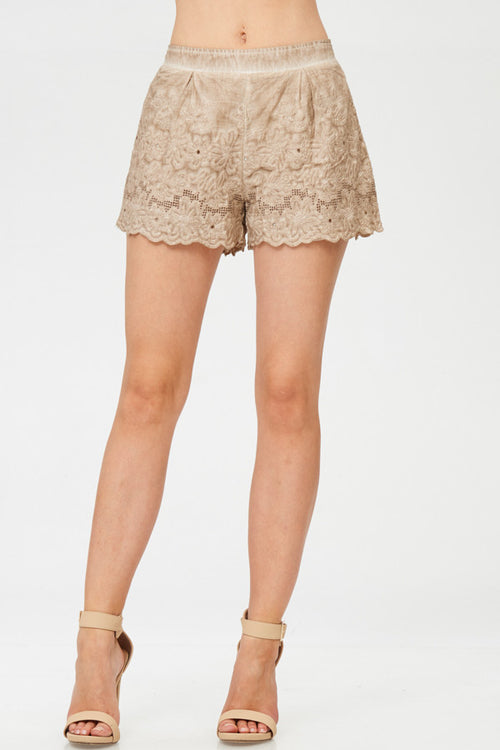Floral Laced Shorts