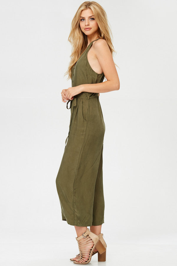 Vintage Button Down Jumpsuit