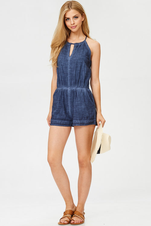 Vintage Romper With Pockets