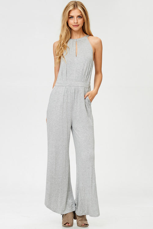 Solid Terry jumpsuit