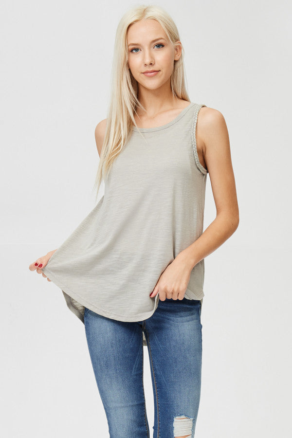 Rope Knot Detailed Solid Tunic Top