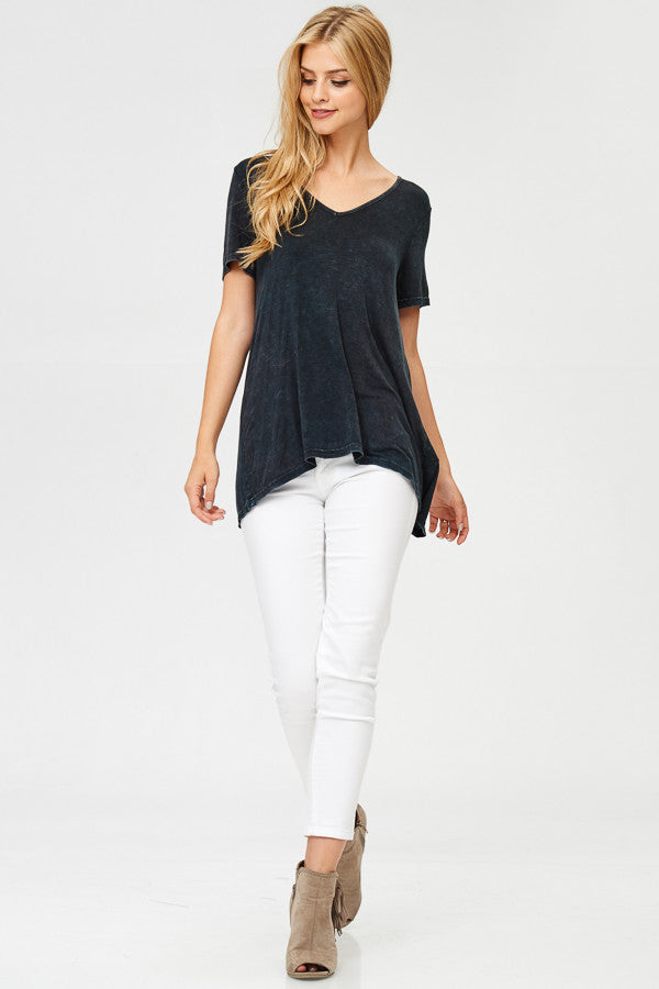Open Back Solid Tunic Top