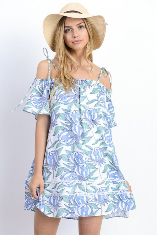 Off Shoulder Relaxed Mini Dress