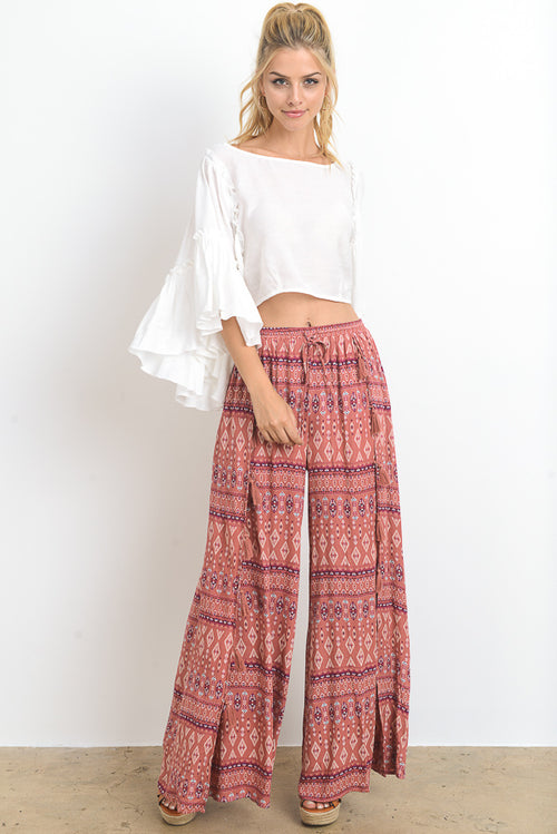 Border Printed Pants