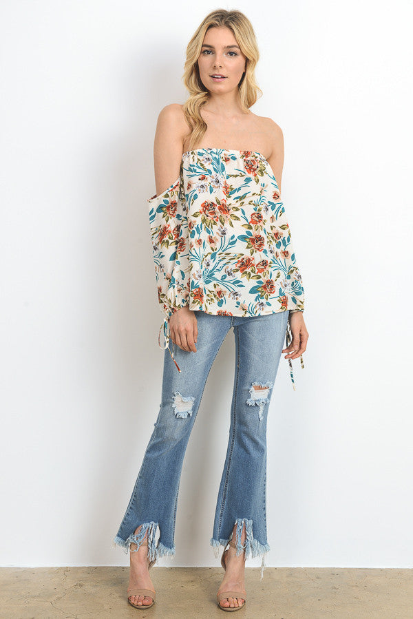 Floral Printed Off Shoulder Top